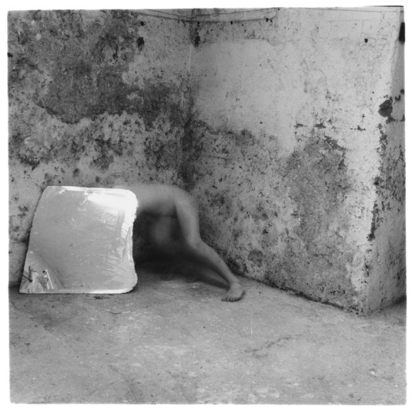 Self-Deceit #5, Rome, Italy 1978 silver gelatin Estate print, edition of 40 8.7 x 9.0 cm (image size) 44.3 x 44.9 cm (framed size)